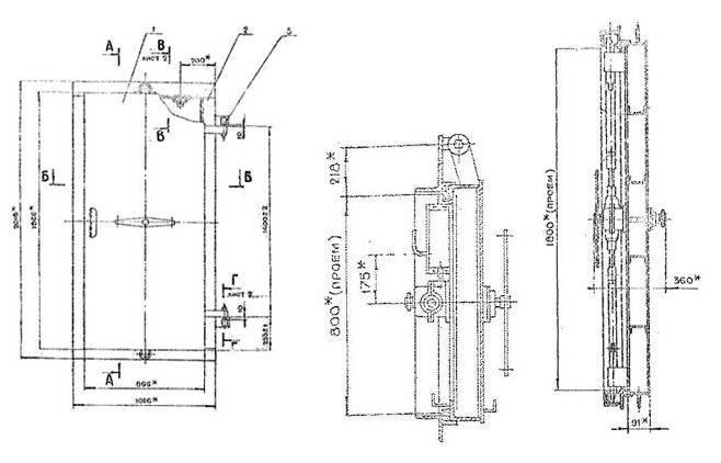 чертеж защитно-герметической двери