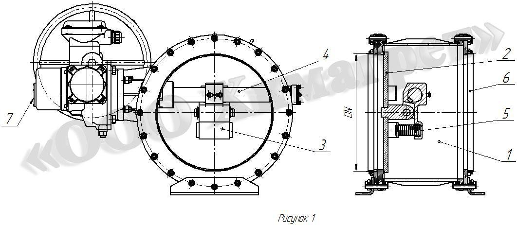 чертеж вентиляционного герметического клапана