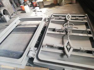 процесс изготовления герметической двери